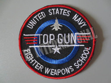 TOP GUN Exquisite Embroidry Patches for Jacket Back Vest Motorcycle Club Biker  DIY 7.5cm