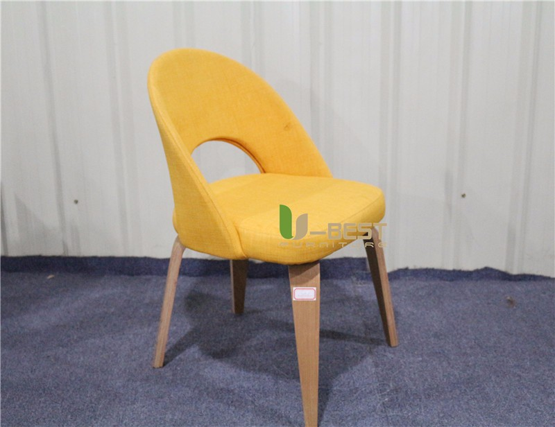 Saarinen Executive mid century side dining chair with wood leg (2)