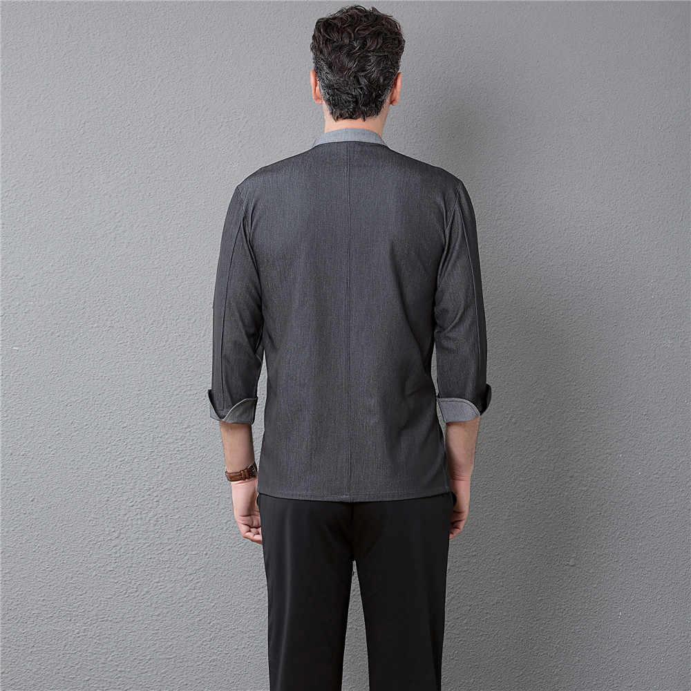 高品質シェフコートレストランの制服シャツウェイター長袖作業服ホテルキッチンパン理髪調理ジャケット