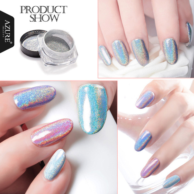 Azure Beauty 2017 Holographic Nail Powder Nails Glitter Powder DIY ...