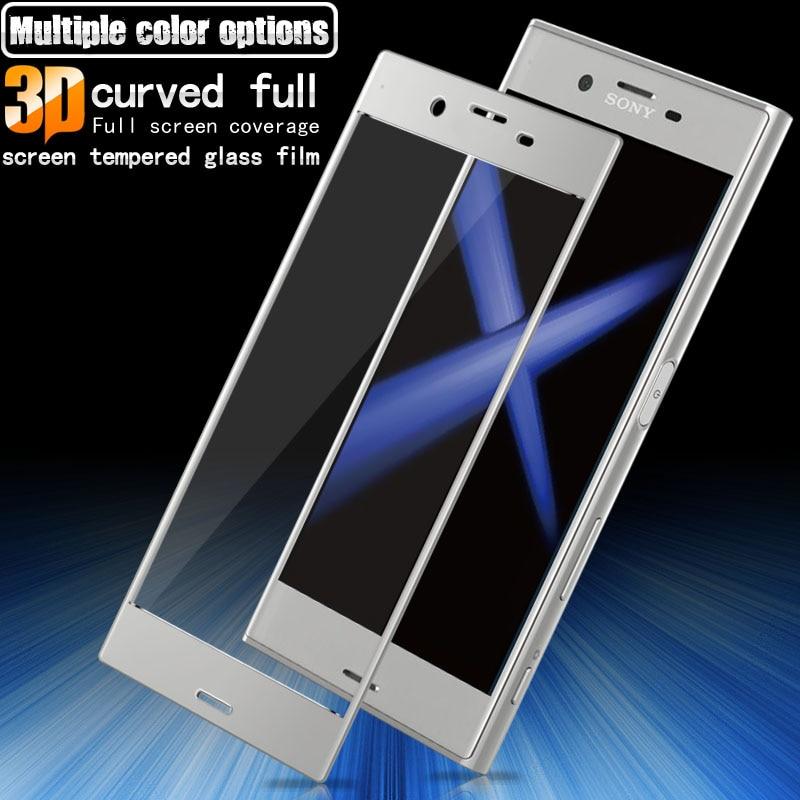 Pełnoekranowe szkło hartowane Do folii ochronnej Sony Xperia XZ - Części i akcesoria do telefonów komórkowych i smartfonów - Zdjęcie 1