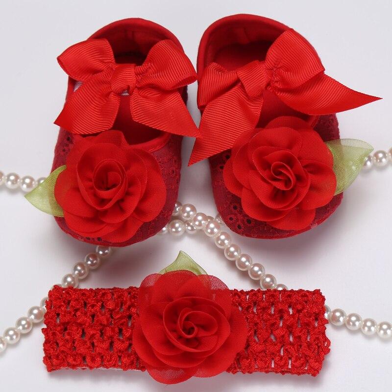 Party Rhinestone/pearl baby shoes crown headband baptism set,lace rosette toddler shoes,Kids booties sapatinhos de bebe menina