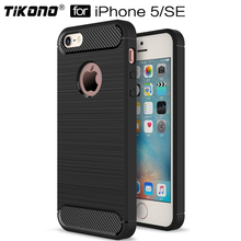 Luxury Carbon Fiber Phone Cases For iPhone 5 case 5S Case Soft Anti Knock Soft TPU Cover For iPhone 5s 5 SE Cases Capa Coque
