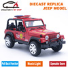 1 32 Diecast Fire Engine Model Jeep Toys Cars With Gift Box Openable Doors Music Light