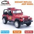 Diecast Modelo de coche de Bomberos, Juguetes Jeep Coches Réplica, los niños de Regalo Con Caja/Puertas Abrible/Sonido/Luz/Tire Hacia Atrás la Función Como Recuerdo