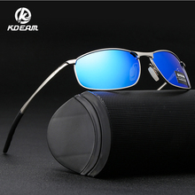 KDEAM Men Polarized Sunglasses Fashion Beach Shades Driving Glasses Rectangle For Oculos masculino KD395