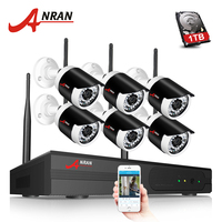 ANRAN And Play 4CH CCTV System Wireless NVR Kit P2P Cloud View 2pcs 720P HD Outdoor