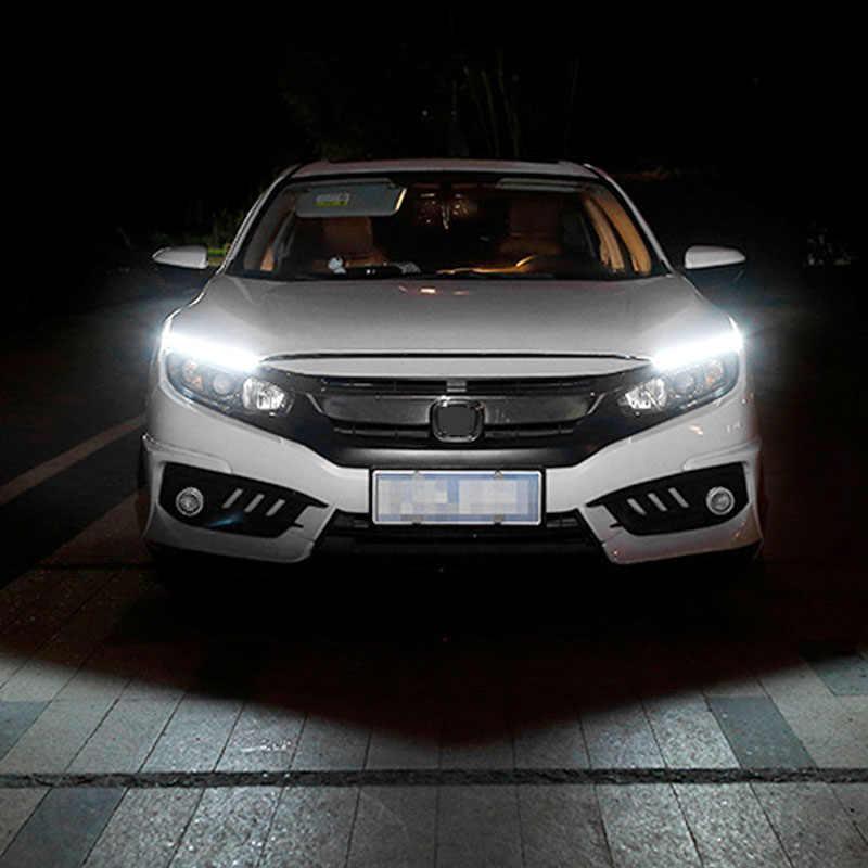 1Pcs Car styling Ultra Bright 12W LED Daytime Running lights DC 12V 17cm 100% Waterproof Auto Car DRL COB Driving Fog lamp
