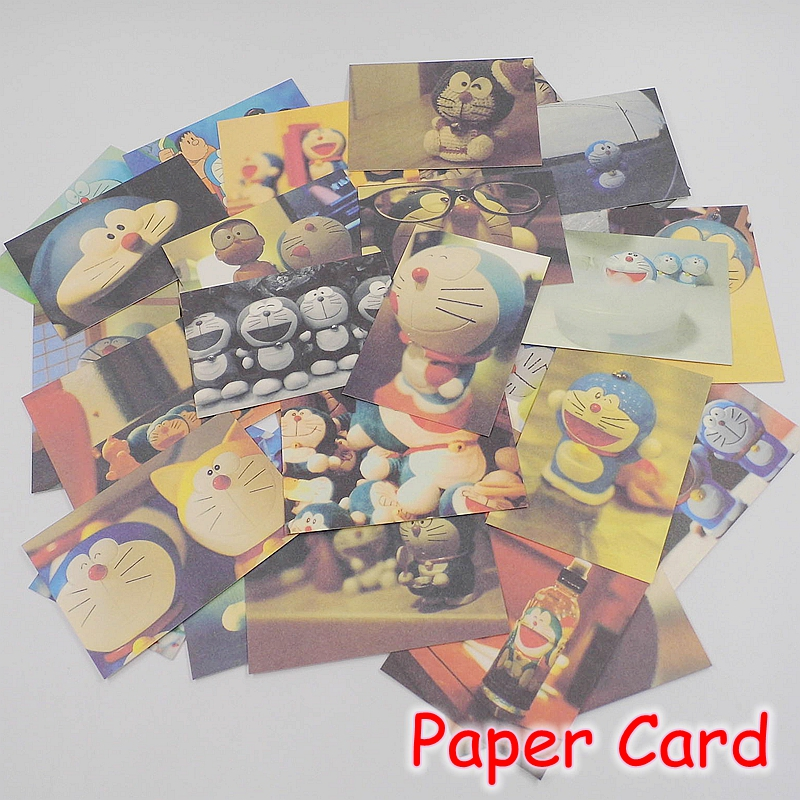 (5 Sets/Lot) 1Set=50Pcs Cartoon Doraemon Kraft Paper Gift Cards / Mini Post It Notes / Cute Bookmark Memo Pad B82 tri folding red white laser cut lace wedding invitations lot paper blank printing invitation cards kit post greeting casamento