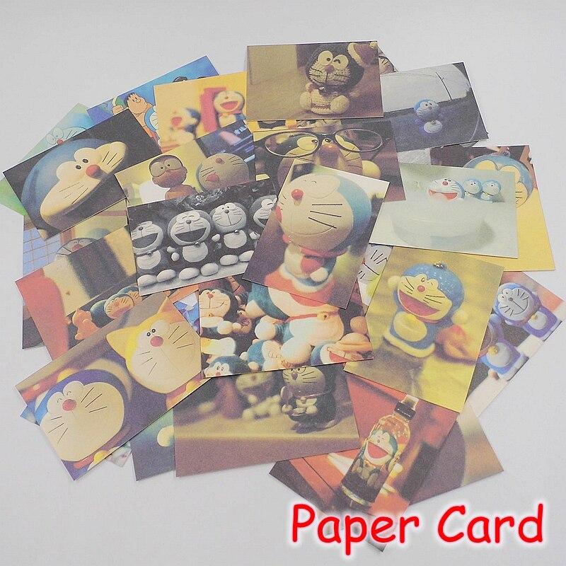 (5 Sets/Lot) 1Set=50Pcs Cartoon Doraemon Kraft Paper Gift Cards / Mini Post It Notes / Cute Bookmark Memo Pad B82