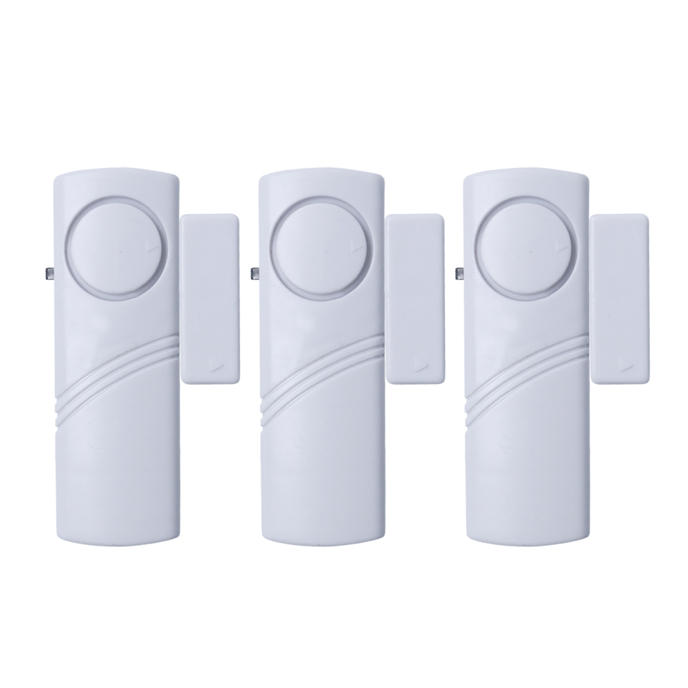 Saful Door Magnetic Sensor 3pcs Home Window Security Burglar Alarm Device Good Quanlity forecum 433mhz wireless magnetic door window sensor alarm detector for rolling door and roller shutter home burglar alarm system