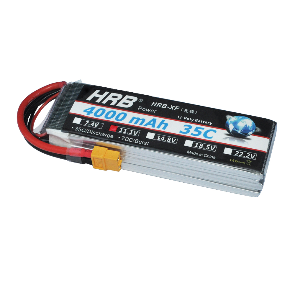 HRB RC Bateria 11.1V 4000mAh 35C MAX 70C 3S Lipo Battery Drone AKKU For Helicopter RC Car Trex 500 Airplane Quadcopter mos rc airplane lipo battery 3s 11 1v 5200mah 40c for quadrotor rc boat rc car