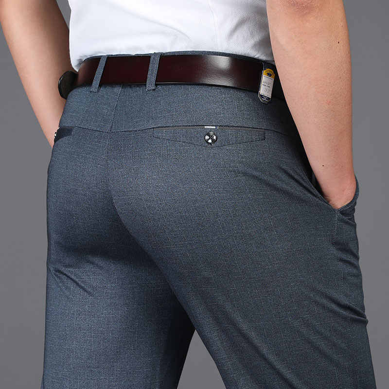27aeca0fedfb9 Spring Summer Anti Wrinkle Men Suit Pants Formal Work Pants Brand Clothing Straight  Men Dress Pants