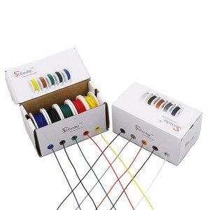 Image 4 - Caja de mezcla de 5 colores, 25m UL 1007 18AWG, 1 caja, 2 paquetes, línea de Cable Eléctrico, Cable PCB de cobre para línea aérea