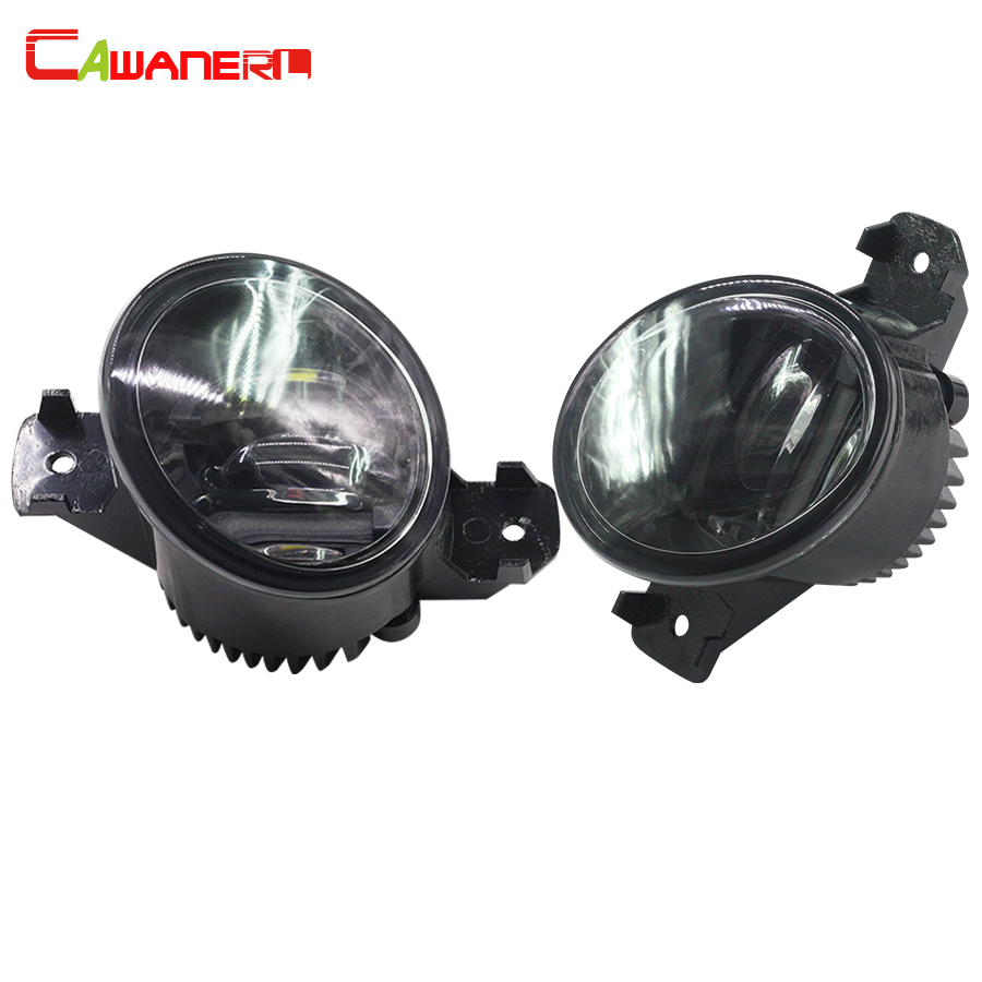 Cawanerl 2 Pieces Car Styling LED Fog Light DRL Daytime Running Lamp White For 2002-2015 Nissan Primera Hatchback Saloon (P12) for nissan primera estate wp12 2002 2015 car styling led light emitting diodes drl fog lamps