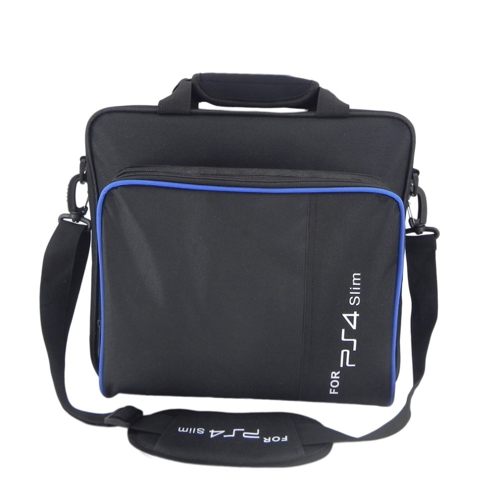 Game Console Storage Bag Shoulder Bag Shock Proof Waterproof Travel Hand Bag for PS4 Slim Console Accessories Carry Bag