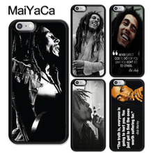MaiYaCa Bob Marleys Quotes Rasta Reggae Rubber Phone Case For iPhone 6 6S Plus 7 8Plus XS MAX X XR 5 5S SE Cover Bags Skin Shell цена