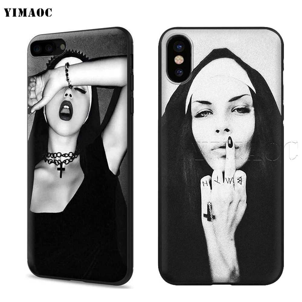 YIMAOC hermana monja suave de silicona caso para iPhone 11 Pro XS Max XR 8X8 7 6 6S Plus 5 5S SE