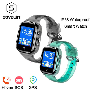 K21 Смарт-часы детские gps водонепроницаемые Android детские часы для мальчиков и девочек LBS камера обнаружения SOS Sim карта 1,44 дюймов сенсорный экр...