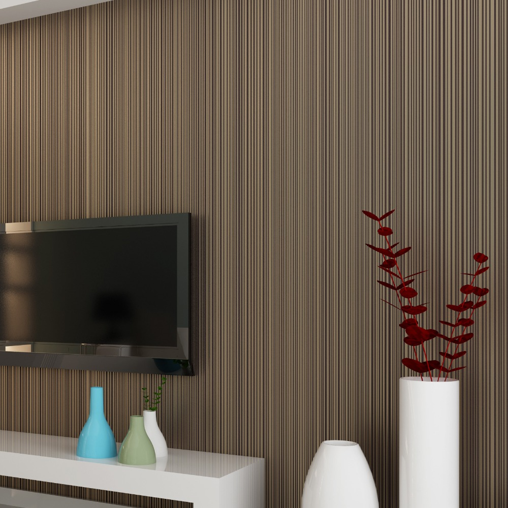 Beibehang Simple plain white beige brown wallpaper Living room bedroom background full vertical stripes 3d wallpaper roll photo colombo орхидея beige brown