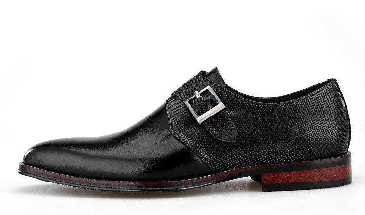 Qyfcioufu Monge Genuíno Tira 100 Designers De Couro Relevo Preto Em Oxfords Formal Homens Handmade Para Sapatos Marca cáqui Vestido Clássico rr4dvFxw