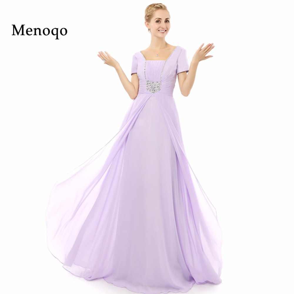 063bf690a0bb Vestidos de la madre de la novia modelo Real con la manga 2019 ...