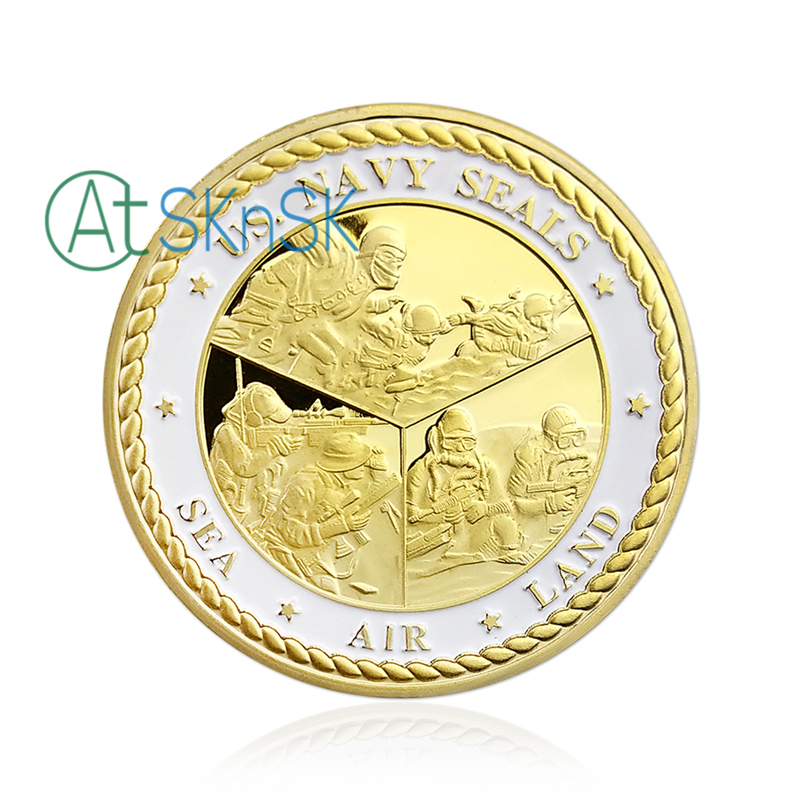 Collectibles Sea Land Air Seal Team Golden Commemorative Challenge