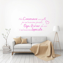 Stickers Quote Non Conservare Vinyl Mural Art Decals for Living Room Home Decor Poster House Decoration Wallpaper 30 cm x 63 cm