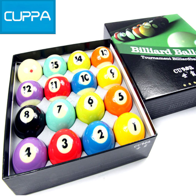 High Quality Cuppa Pool Table Billiard Balls Set 57mm Billiards Accessories  China 2016 New