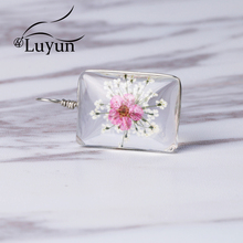 Luyun Bohemian Necklace Lace Flower Dried Pendant  Crystal Jewelry Wholesale Chain
