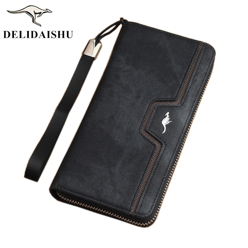 Brand kangaroo Men Wallets vintage genuine canvas Men purse Coin Purse High Capacity Clutch wallet Male Wrist Strap phone Wallet usb charging port plug flex cable for lenovo yoga tab 3 yt3 x50l yt3 x50f yt3 x50 yt3 x50m p5100 usb fpc v3 0 usb cable