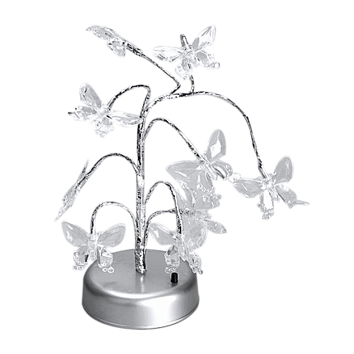 CNIM Hot Mini Colorized LED Butterfly Tree Light Lamp Home Desk Festival Decoration