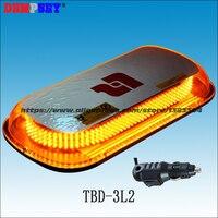 TBD 3L2 LED Super bright mini lightbar,DC12/24V Amber emergency warning lightbars,trucks/fire/Police cars Strobe Flashing light
