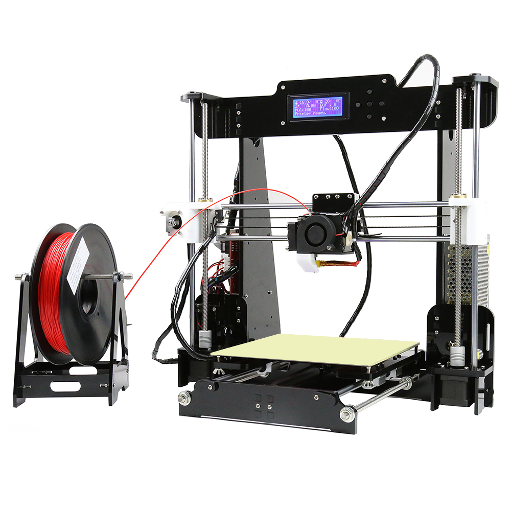 цена Anet Normal A8/Auto A8 3D Printer Desktop Large Printing Size High Precision 3D Printer kit DIY Prusa i3 Toys Gift Building