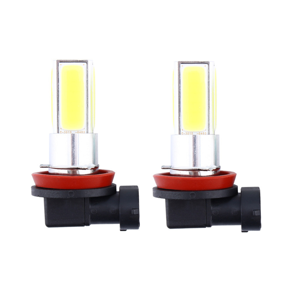 2x H8 H11 High Power 20W COB LED Fog Driving Light Lamp Bulb White 6000K