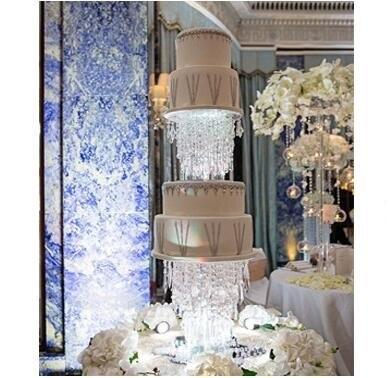 Dia 25 & 30 & 35 CM/Lot support de gâteau de mariage en cristal acrylique/support de fleur pièce maîtresse de mariage/événement et fête pilier décoration de Table