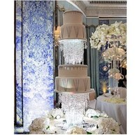 Dia 25&30&35CM/Lot Acrylic Crystal Wedding Cake Stand / Flower Stand Wedding Centerpiece/ Event & Party Pillar Table Decoration