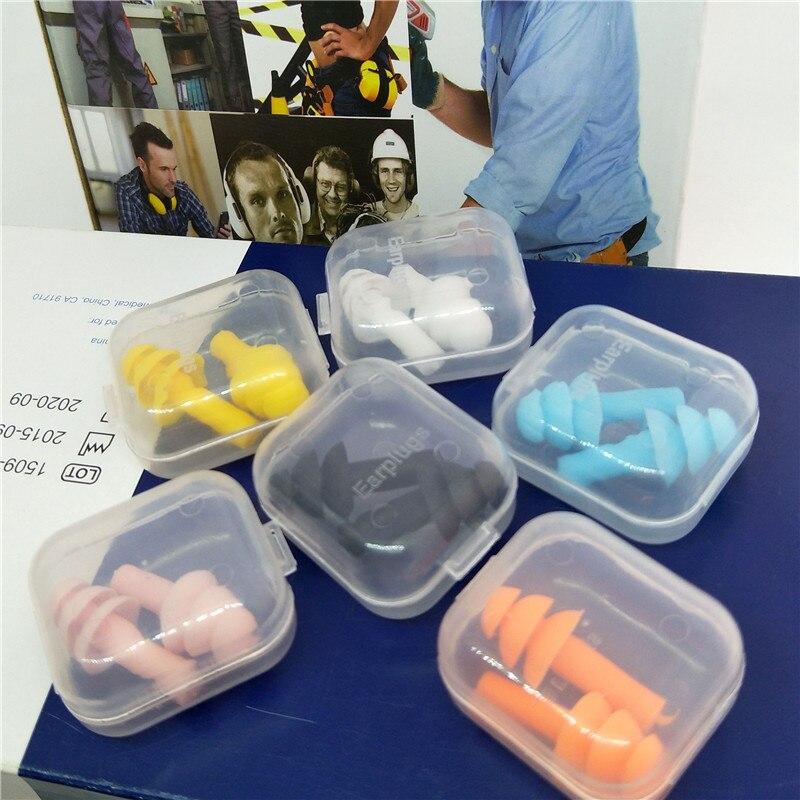1 Paar Box-verpackt Komfort Ohrstöpsel Noise Reduktion Silikon Weichen Ohr Stecker Schwimmen Silikon Ohrstöpsel Schutzhülle Für Schlaf Rohstoffe Sind Ohne EinschräNkung VerfüGbar