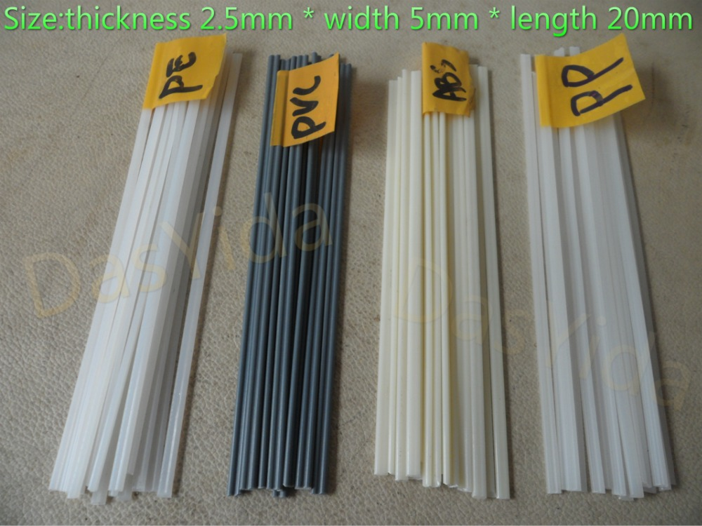 40pcs Non-toxic Plastic Welding Rods ABS/PP/PVC/PE For Plastic Welder Gun/hot Air Gun 1pc=20mm