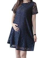 Abetteric frauen Sommer Spitze Mutterschaft Pullover Kleid Tops