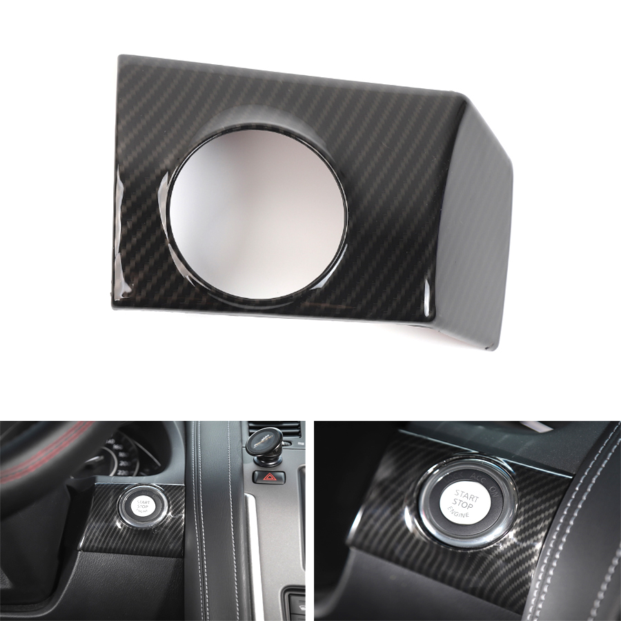 YAQUICKA Car Interior One Start Stop Engine Cover Trim Sticker Styling For Nissan Patrol 2017+ ABS Accessories