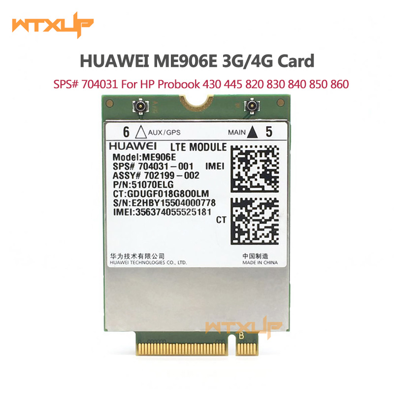 HUAWEI ME906E LT4112 3G 4G module WWAN NGFF Card SPS 704031 790198 For HP NETWORK CARD