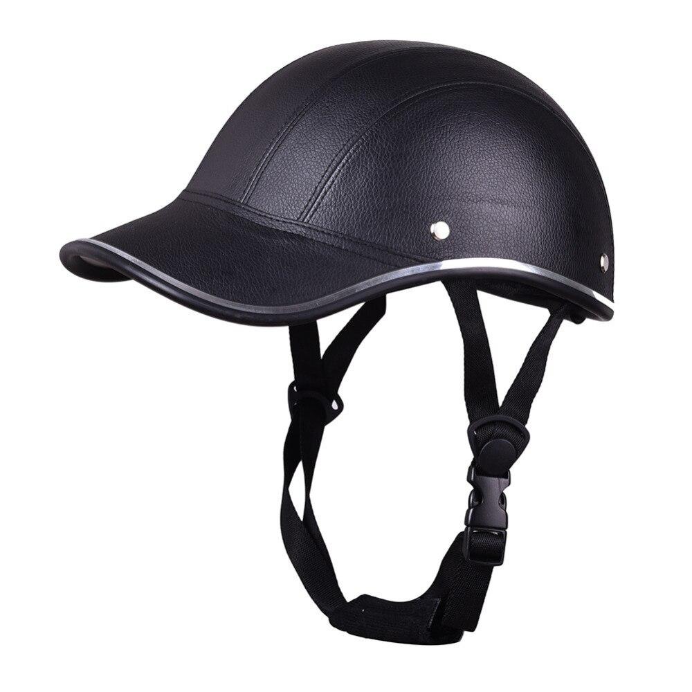 Lightweight Motorcycle Helmet >> Us 14 32 40 Off Outdoor Lightweight Motorcycle Half Face Helmet Protective Helmets Pith Helmet Abs Leather Baseball Cap Motor Unisex 6 Colors In