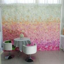 Wedding Flower Wall Gradual Change Hot Pink 3D Backdrop Stage Decoration By Fedex