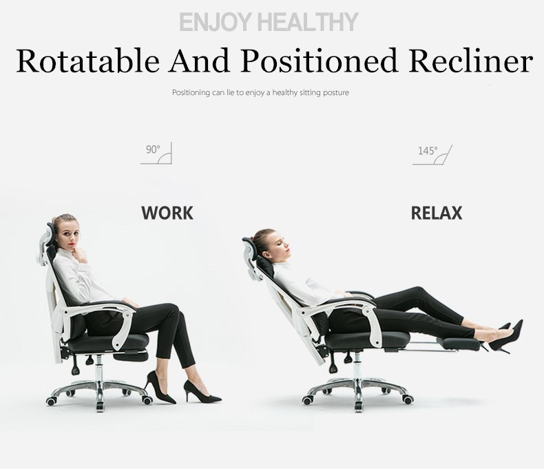The Modern Household Computer Rotatable Recliner Boss Student Dormitory Staff Study Mesh Seat Adjustable Liftable Office Chair the silver chair