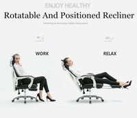 The Modern Household Computer Rotatable Recliner Boss Student Dormitory Staff Study Mesh Seat Adjustable Liftable Office Chair