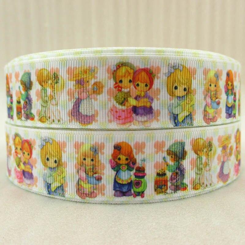 (5yds per roll) 10Y42641 1(25mm) Beautiful girls ribbon high quality printed polyester ribbon 10 yards, wedding gift wrap