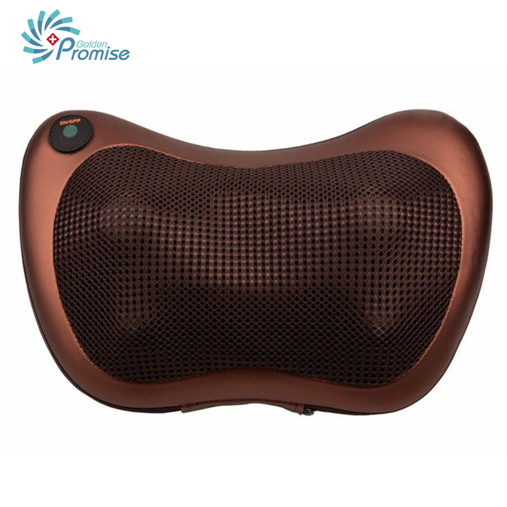 GPYOJA Home Car Dual-use Massage Pillow Electric Infrared Heating Kneading Cervical Neck Shoulder Back Body Spa Shiatsu Massager electric shiatsu foot massager far infrared heating kneading reflexology massage device home relaxation back massager