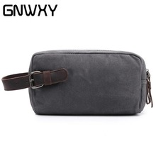 GNWXY Canvas Men Clutch Bags Daily Use Phone Small Hand