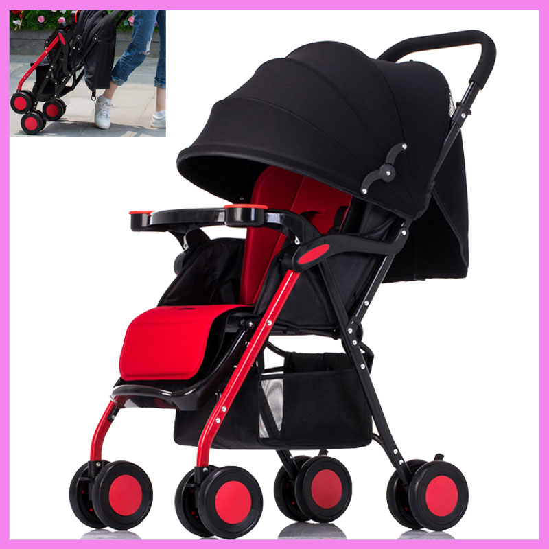 Portable Folding Lightweight Baby Infant Stroller Travel System Swivel Wheels Flat Lie Baby Umbrella Pram Pushchair Buggy 0~36M summer high landscape steel light baby stroller four wheels lightweight travel portable umbrella baby cart pram buggy pushchair